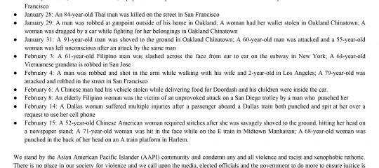 Alpha Phi Gamma - Anti-Asian Hate Crimes Statement
